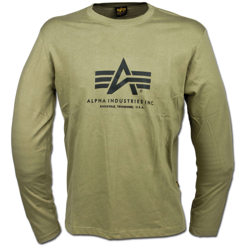 T-Shirt Alpha Industries Langarm oliv