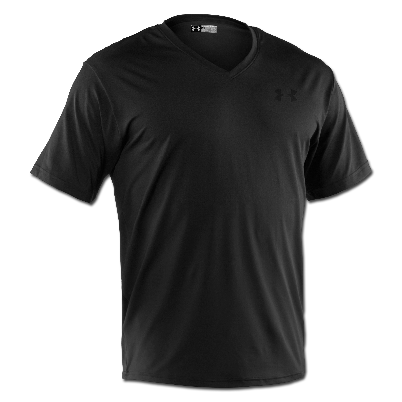 Under Armour T-Shirt The Original Fitted V-Neck schwarz