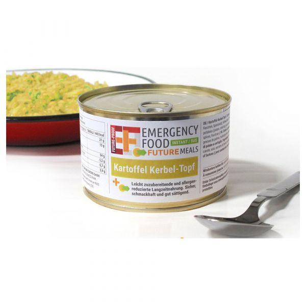 EF Emergency Food Kartoffelkerbeltopf Dose