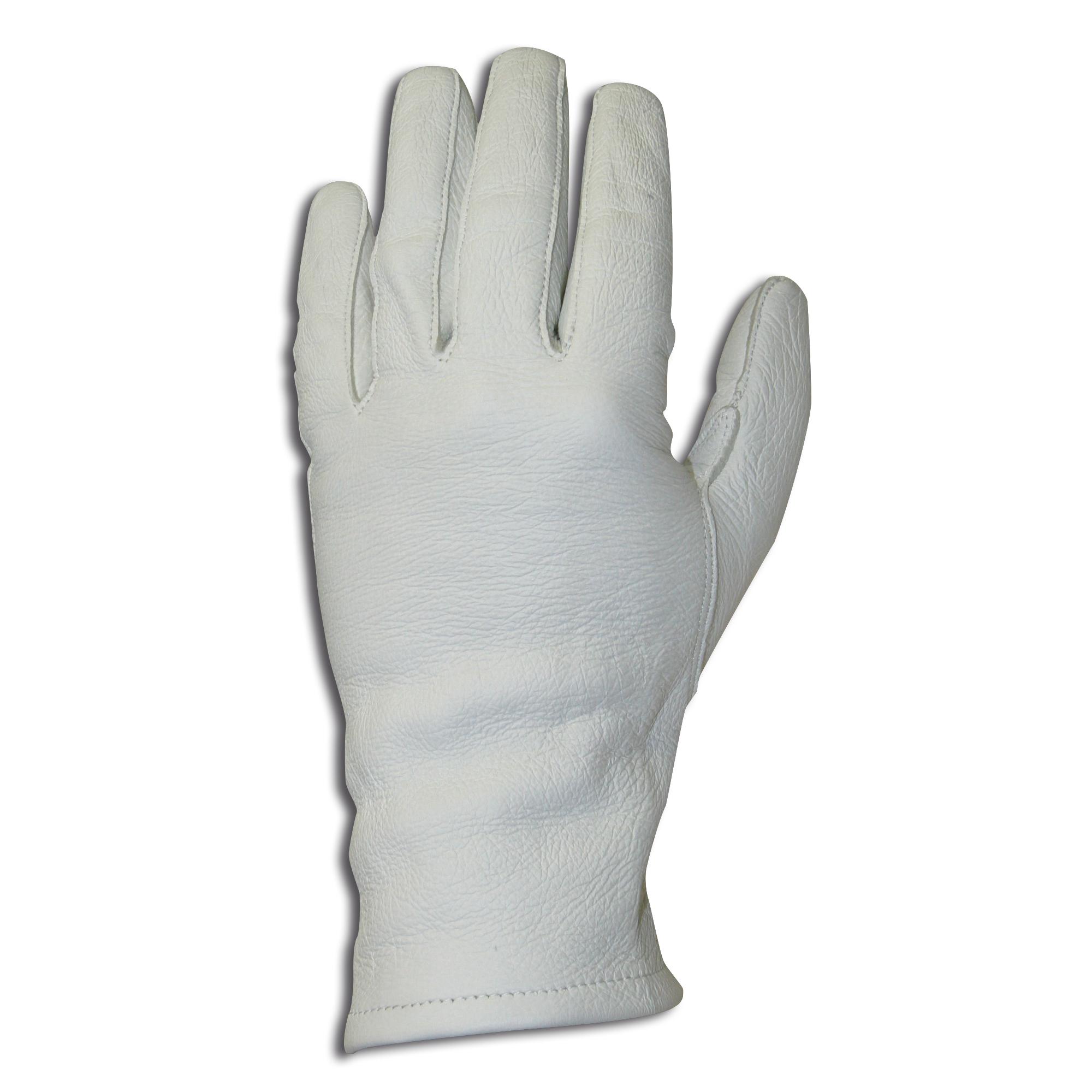 BW Paradehandschuhe Leder weiß gebraucht
