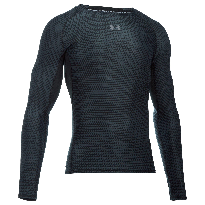 Under Armour Compression Shirt HeatGear Langarm schwarz