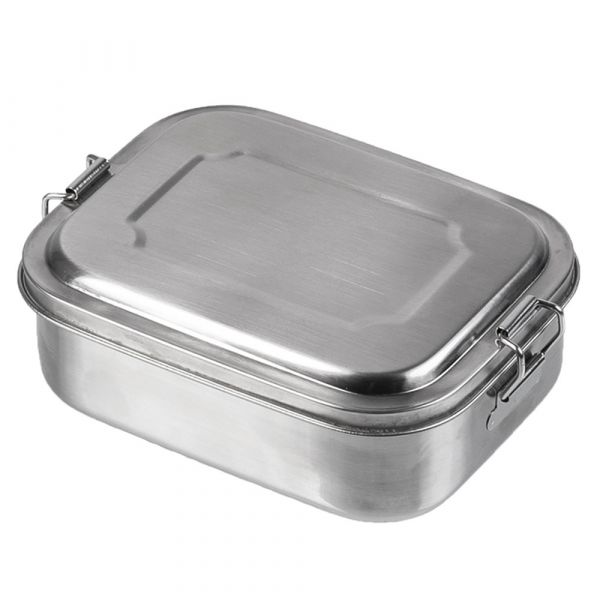 Mil-Tec Geschirr Lunchbox stainless steel 16x13x6.2 cm