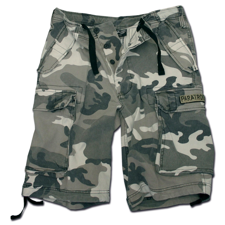 Paratrooper Mil-Tec Shorts washed urban