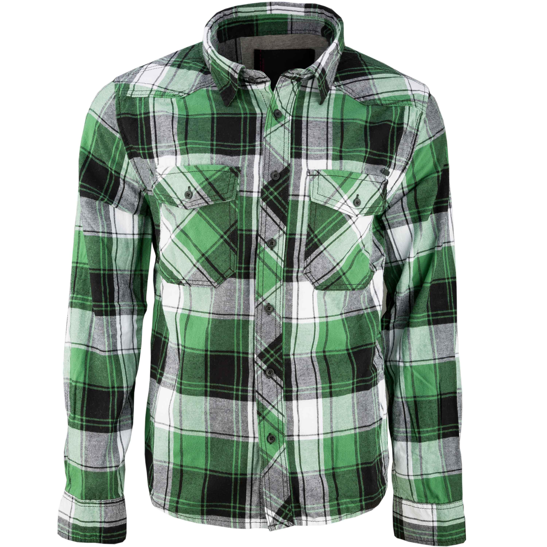 Brandit Checkshirt weiß grün