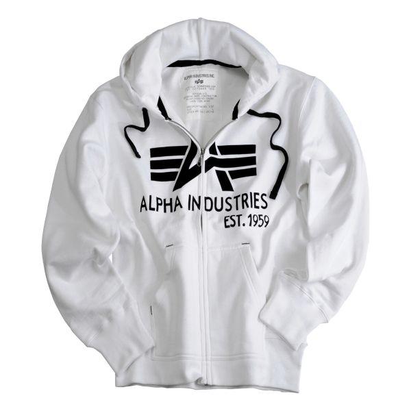 Alpha Industries Big A Classic Zip Hoody weiß