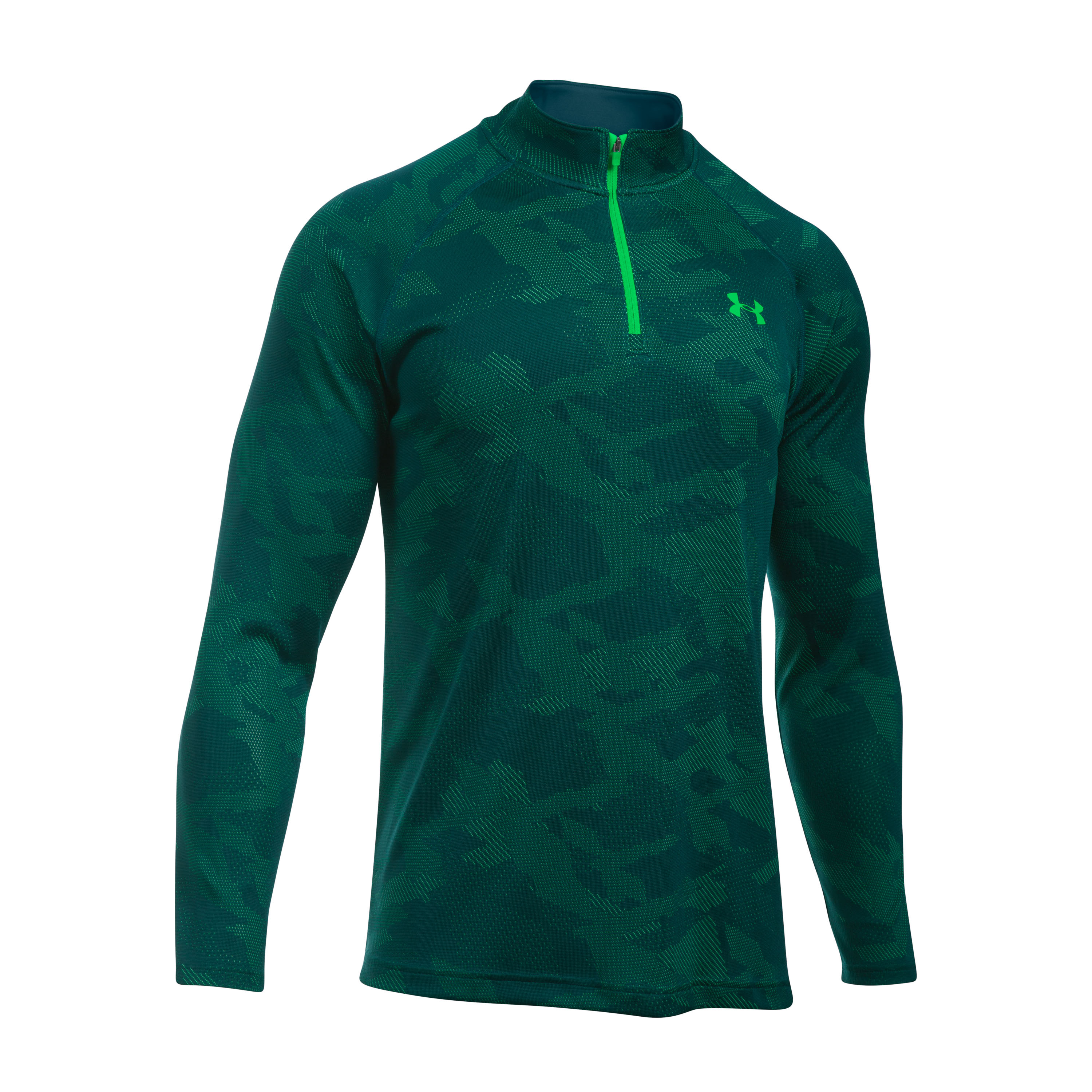 Under Armour Langarmshirt Tech Jacquard 1/4 Zip grün
