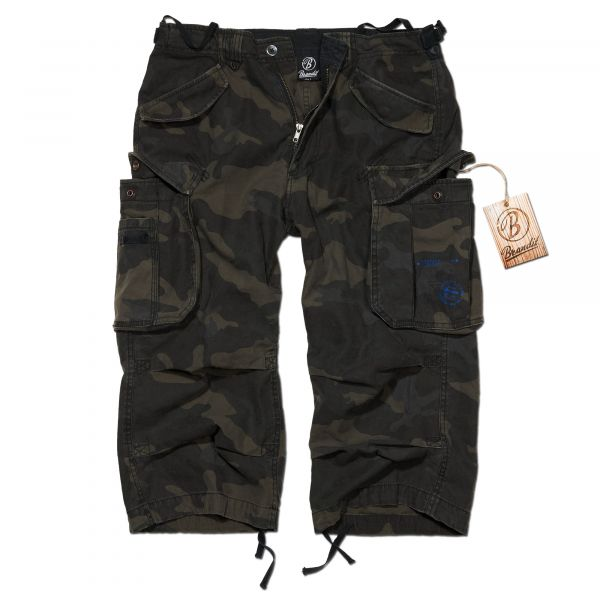 Brandit Shorts Industry Vintage 3/4 darkcamo
