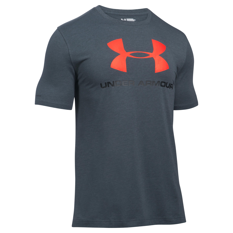 Under Armour Fitness Shirt Sportstyle Logo dunkelgrau