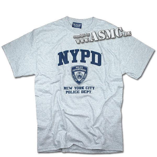 T-Shirt NYPD grau