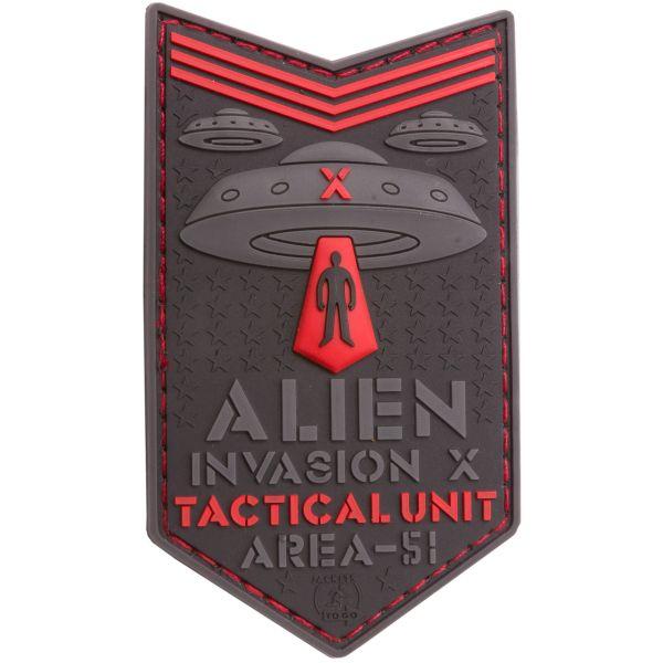 JTG 3D Patch Alien Invasion X File Tactical Unit rot