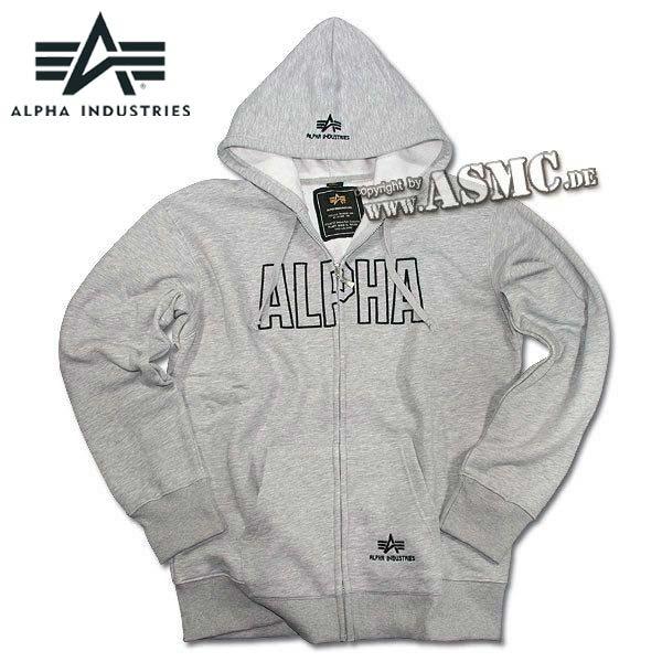 Zip-Sweatshirt Alpha Industries Track Hoody grau