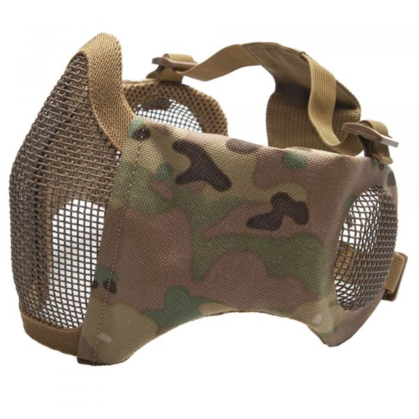 ASG Gittermaske Metall-Mesh m. Pads u. Ohrprotektoren multicam