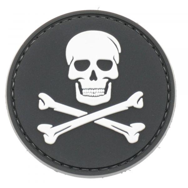 La Patcheria PVC-Patch Jolly Roger schwarz