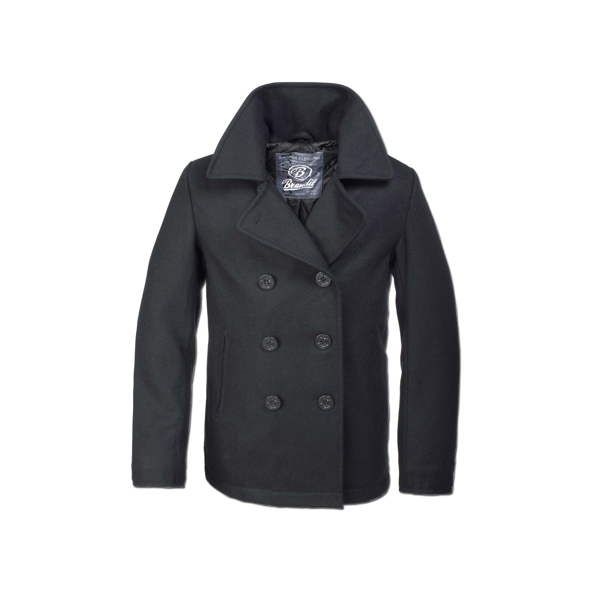 Jacke Brandit Pea Coat schwarz