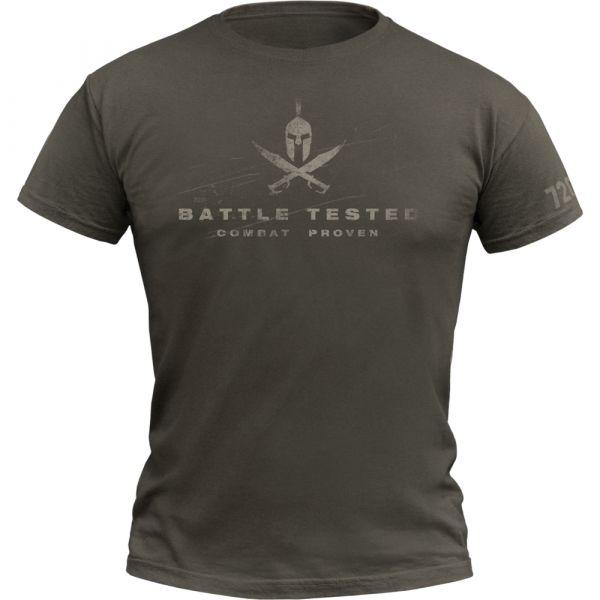 720gear T-Shirt Battle Tested army oliv