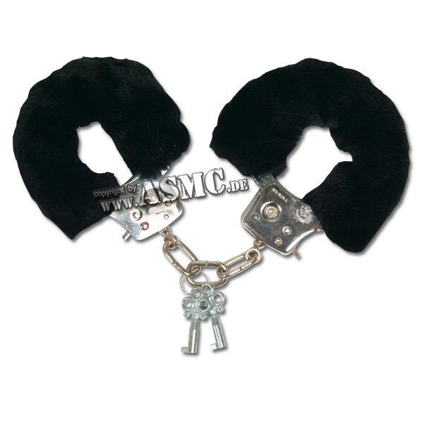 Plüsch-Handschellen schwarz
