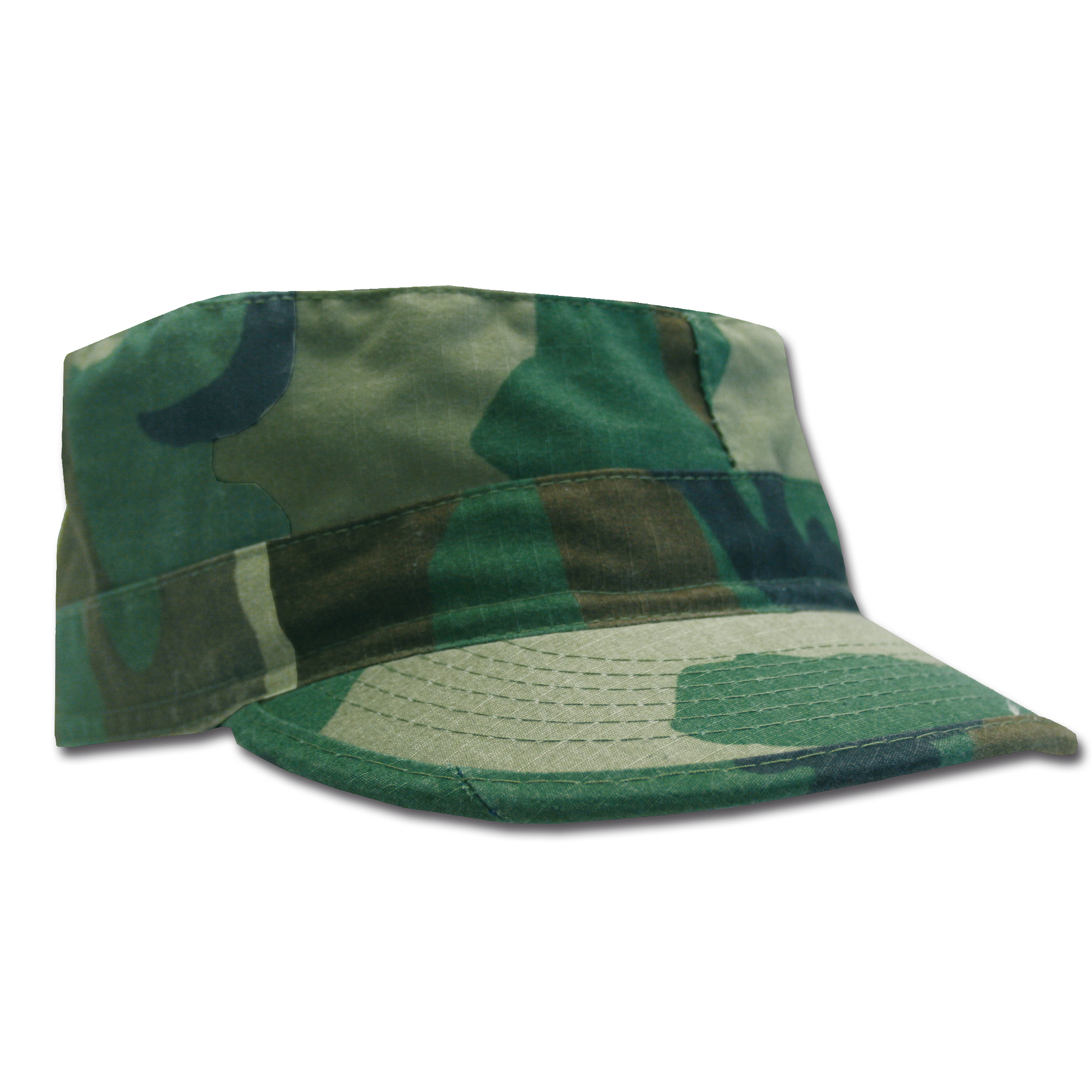 BDU Cap woodland washed Ripstop