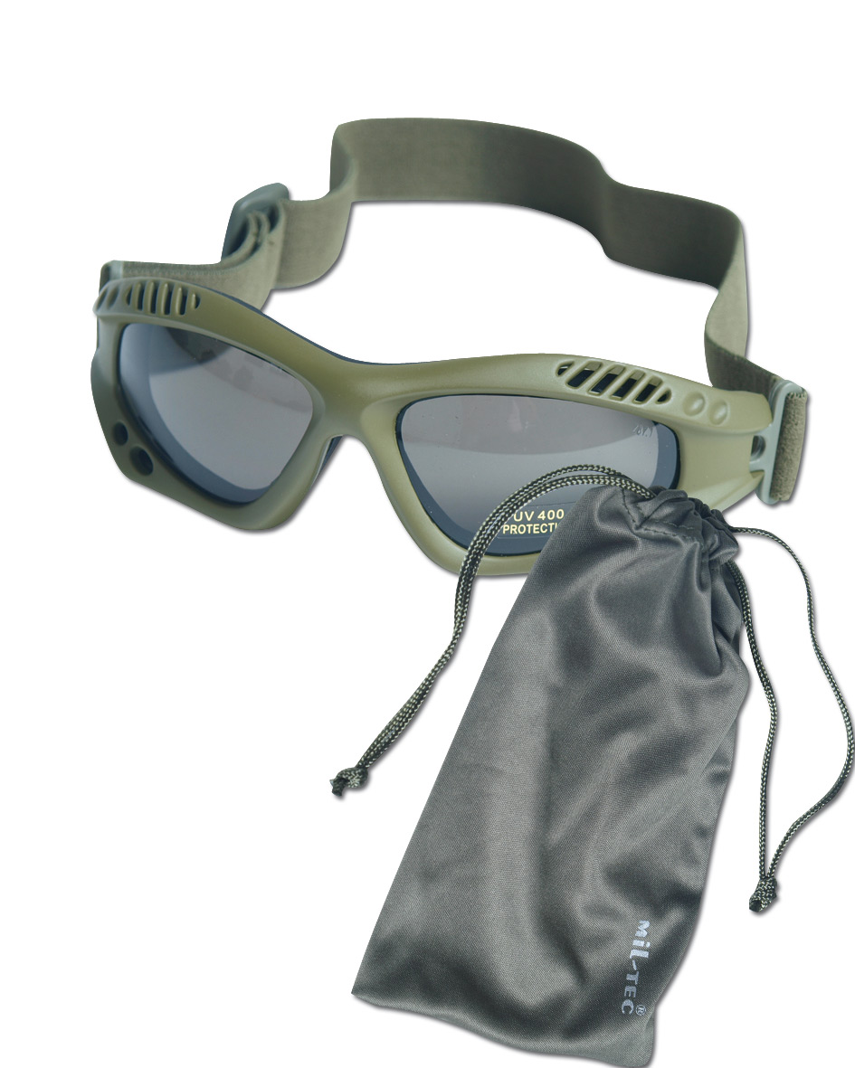 Brille Commando Air-Pro oliv smoke