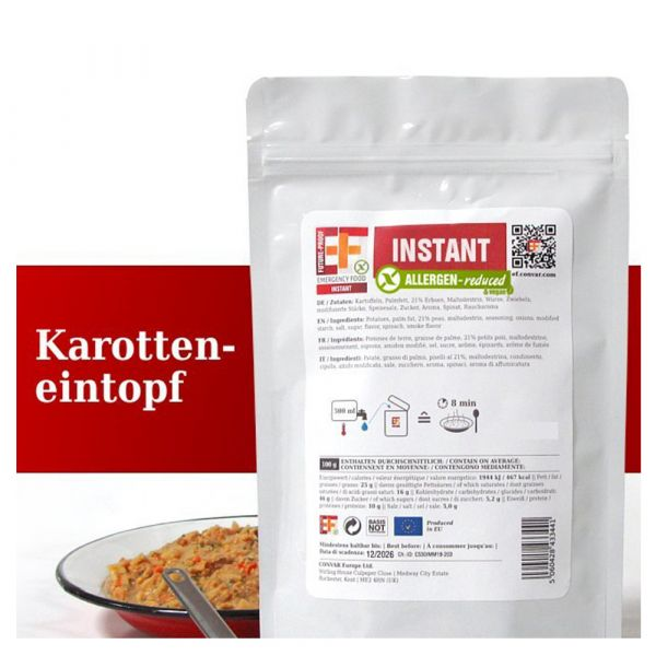 EF Emergency Food Karotteneintopf Tüte