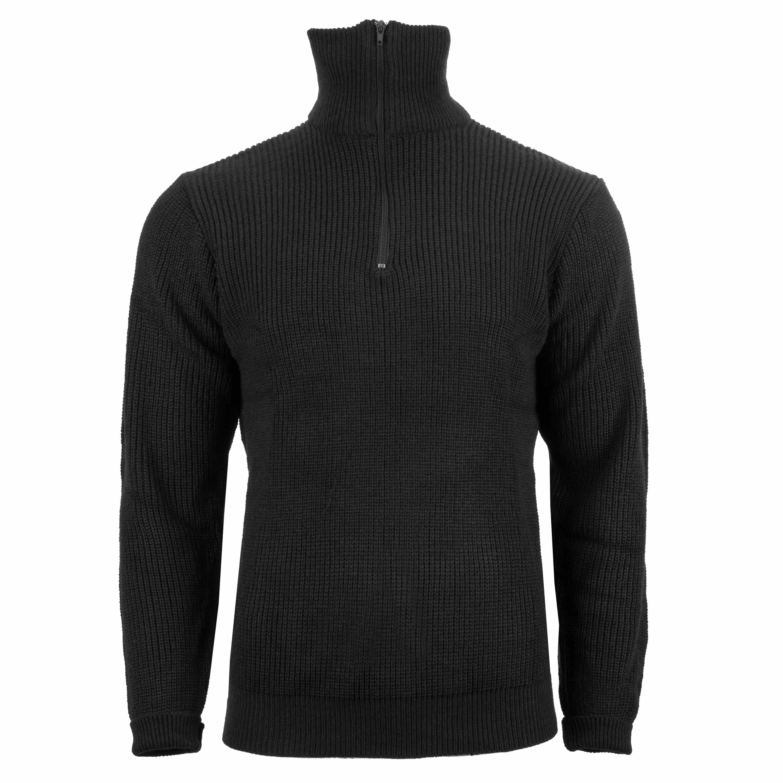 Pullover Troyer Acryl schwarz