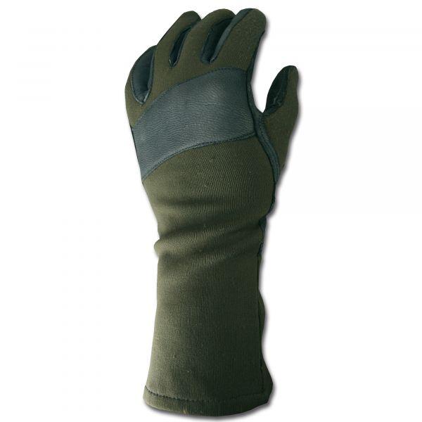 BW Kampfhandschuhe oliv gebraucht