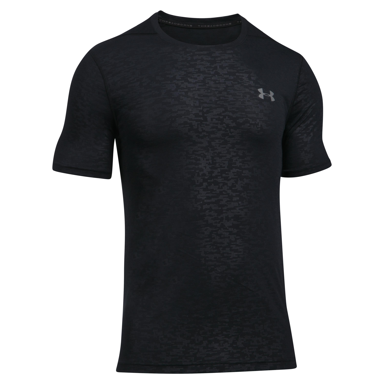 Under Armour T-Shirt Threadborne FTD Emboss SS schwarz-grau