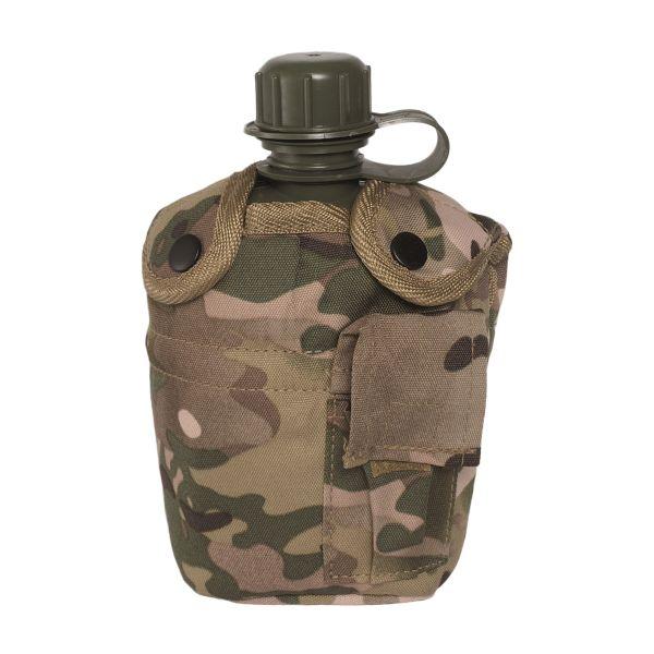 Feldflasche 1 qt. mit Becher und Hülle multitarn
