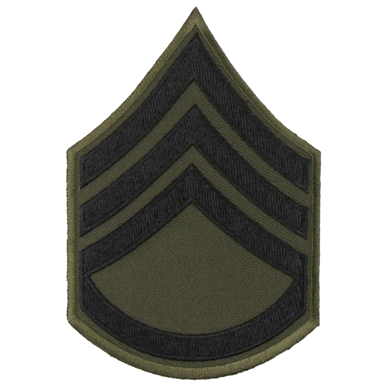 Rangabzeichen US Textil schwarz Staff Sergeant