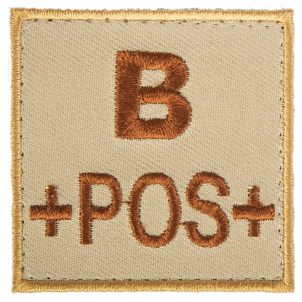 T.O.E Blutgruppenpatch Blutgruppe B positiv sand