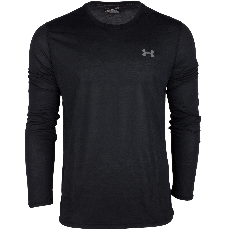 Under Armour Langarm Shirt Threadborne Fitted schwarz