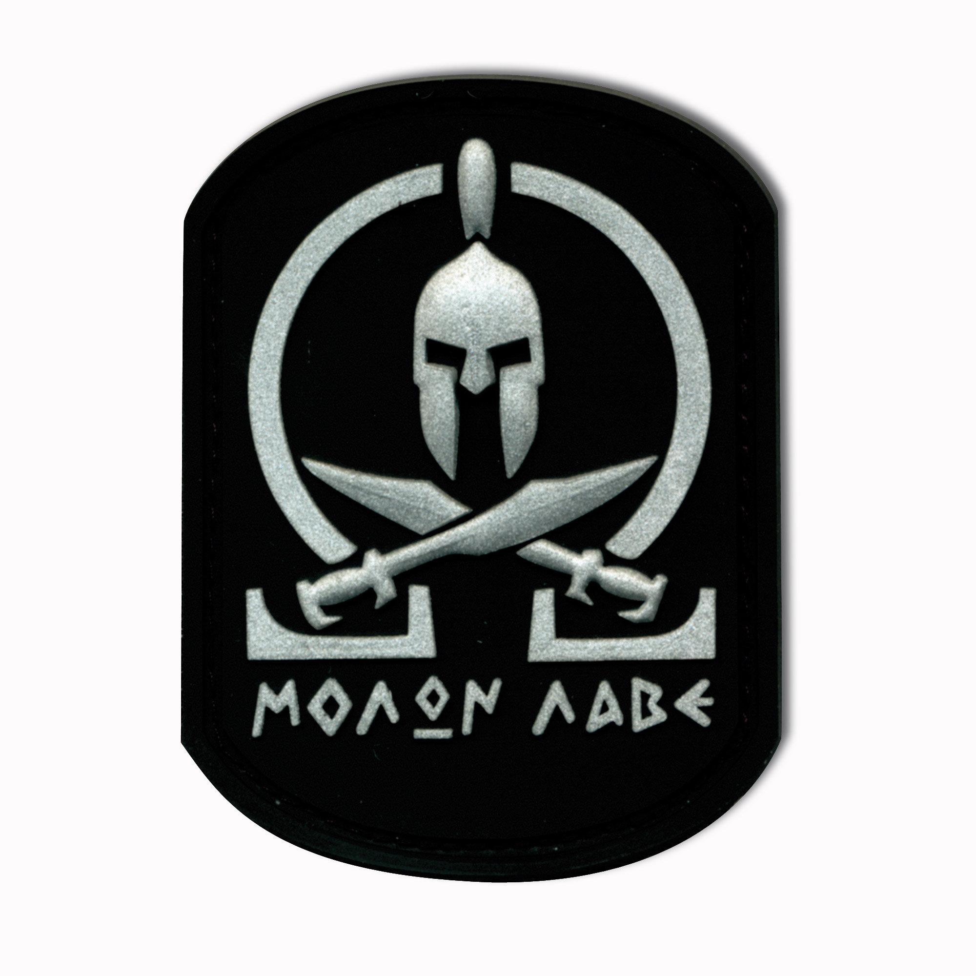 3D-Patch Molon Labe Spartan schwarz