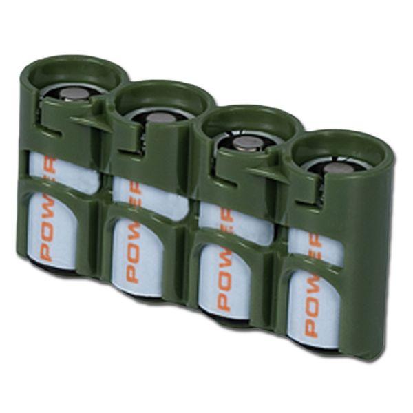 Batteriehalter Powerpax SlimLine 4 x CR123 oliv