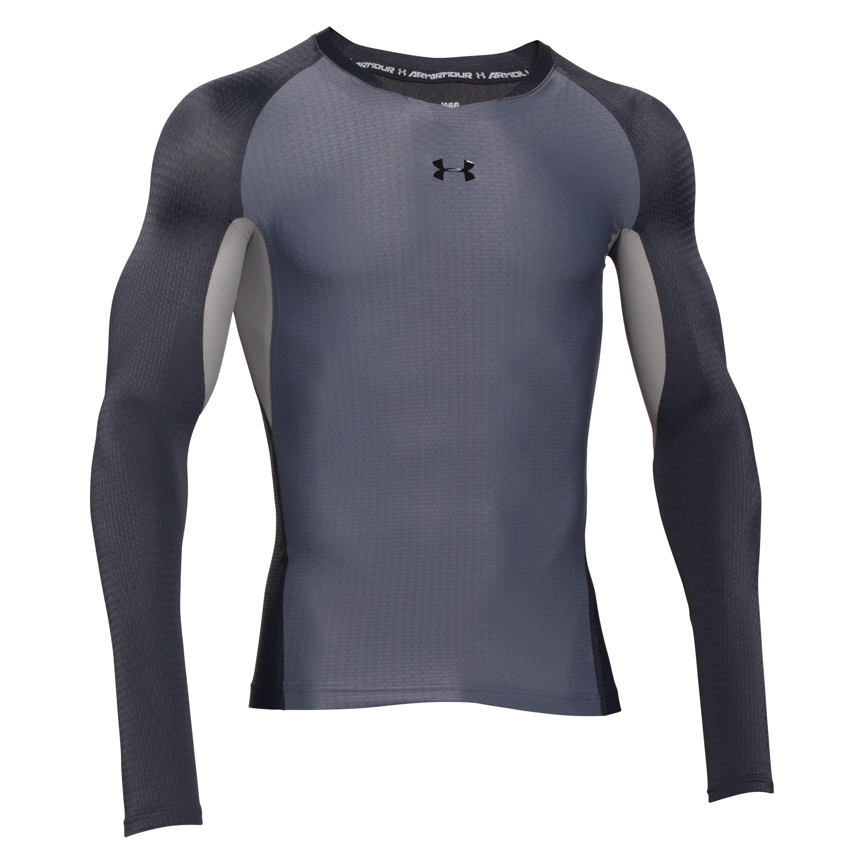 Under Armour Clutchfit Compression Longsleeve Shirt grau-schwarz