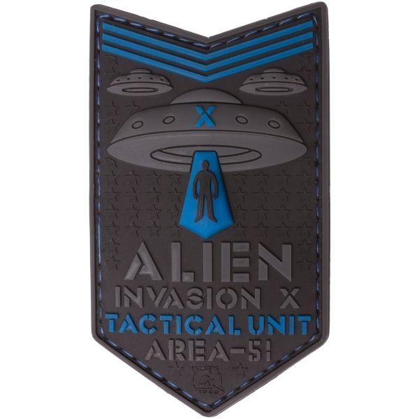JTG 3D Patch Alien Invasion X File Tactical Unit blau