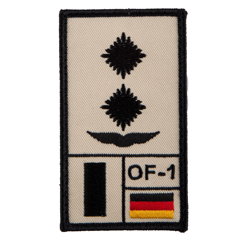 Café Viereck Rank Patch Oberleutnant Luftwaffe sand