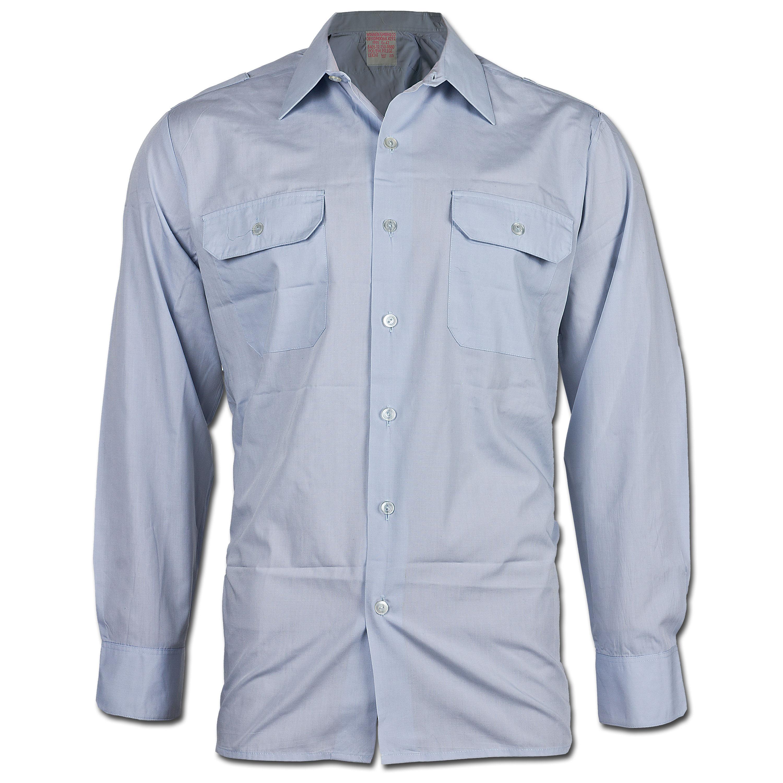 BW Diensthemd Langarm blau gebraucht