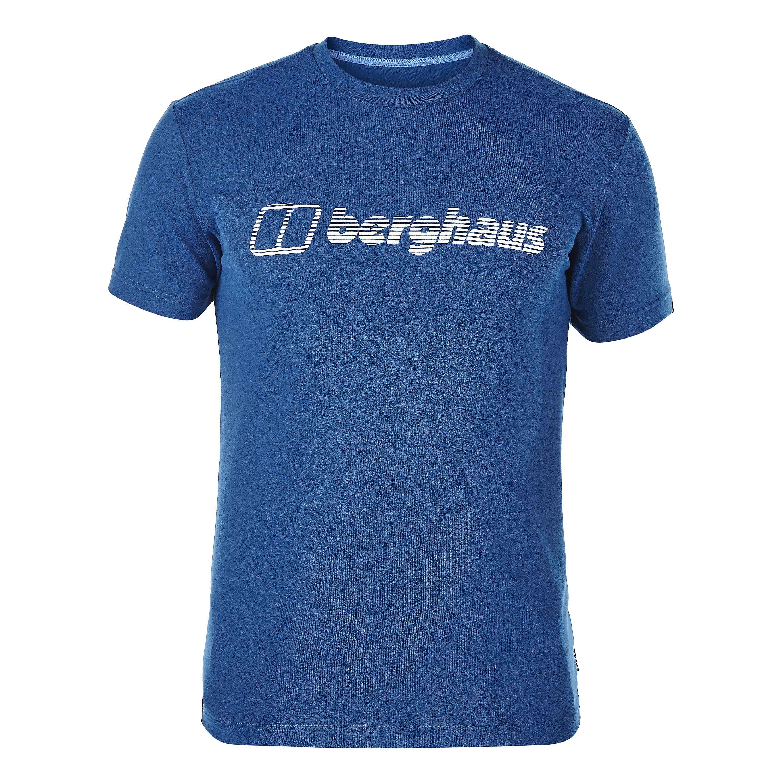 Berghaus T-Shirt Voyager Lines blau-weiß