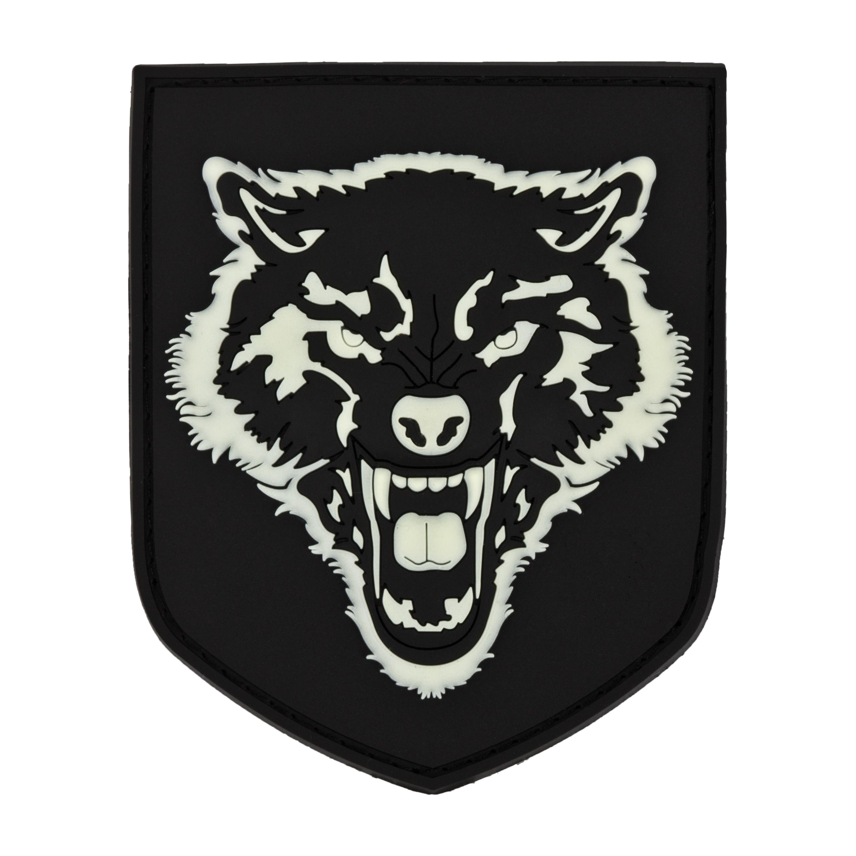3D-Patch Wolf nachleuchtend