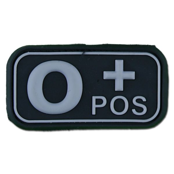 3D Blutgruppenpatch 0 Pos swat