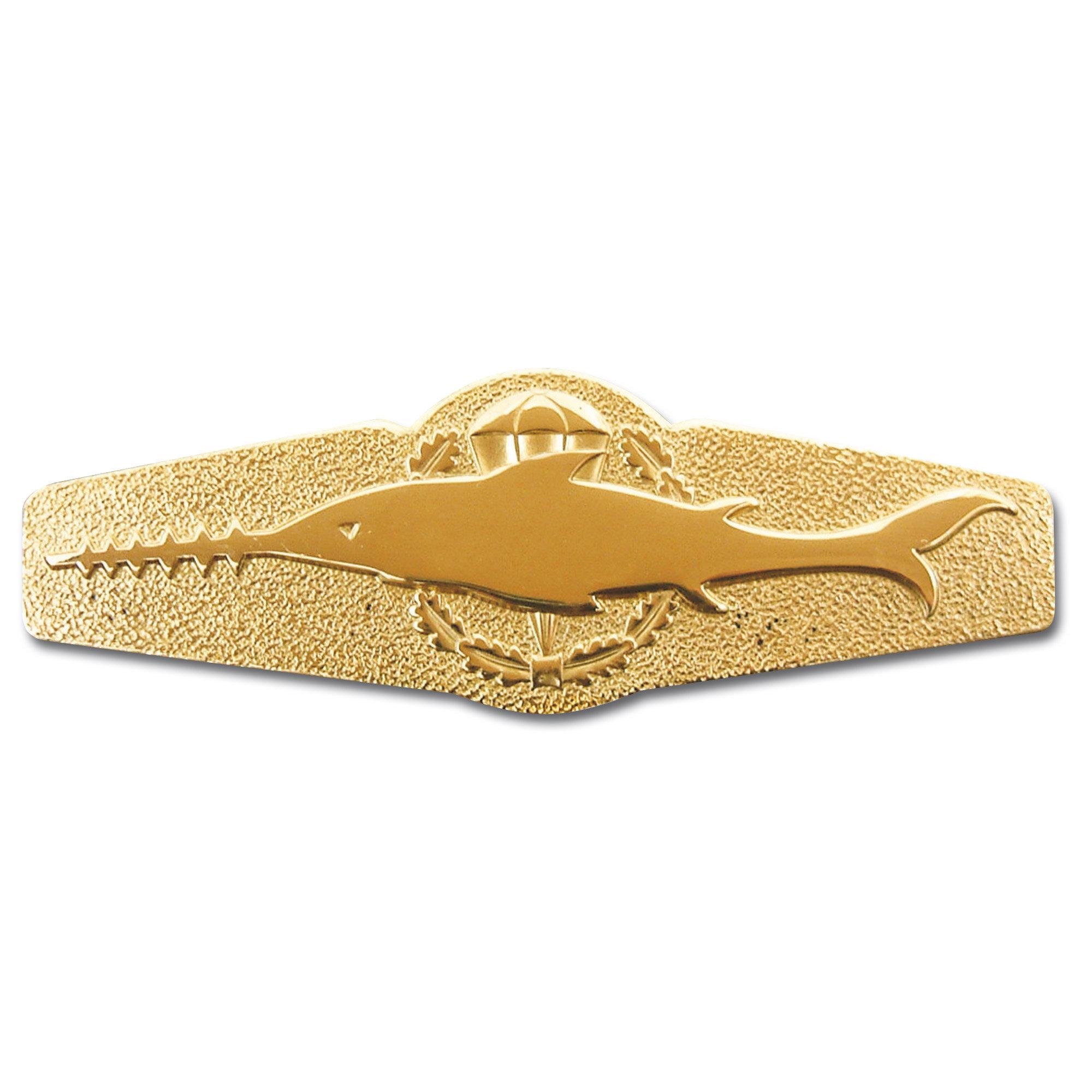 Abzeichen BW Kampfschwimmer Metall gold