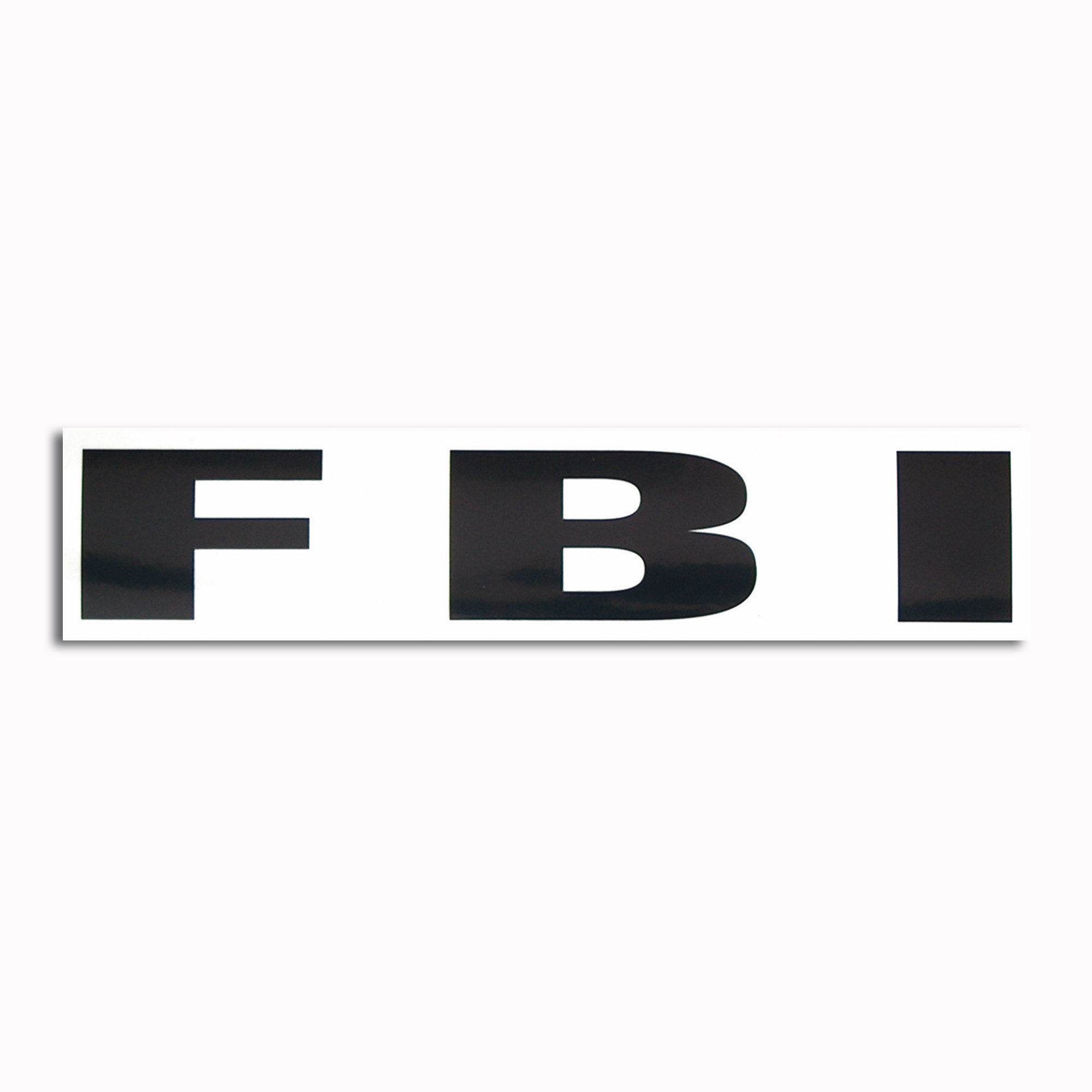 Transparenter Aufkleber FBI