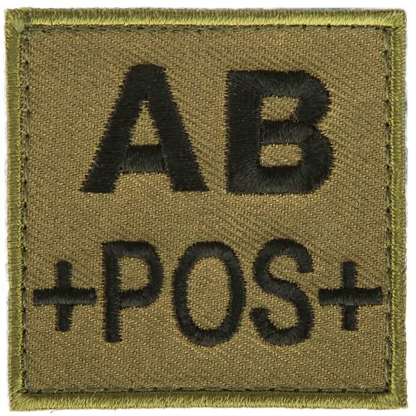 T.O.E Blutgruppenpatch Blutgruppe AB positiv grün