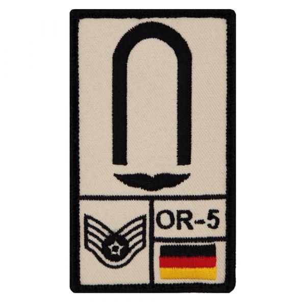 Café Viereck Rank Patch Unteroffizier Luftwaffe sand
