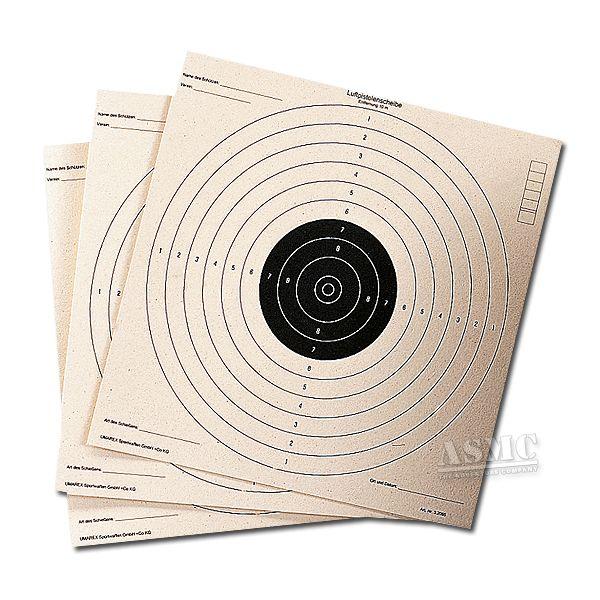 Schießscheiben für Luftpistole 17 x 17 cm 100 St.