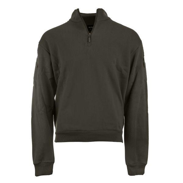 Mil-Tec Tactical Sweatshirt mit Zipper ranger green