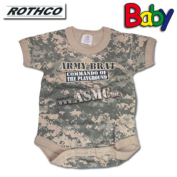 Baby Strampler Rothco Army Brat AT-digital