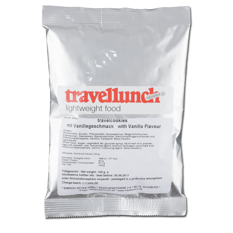 Travellunch Travelcookies mit Vanille-Geschmack