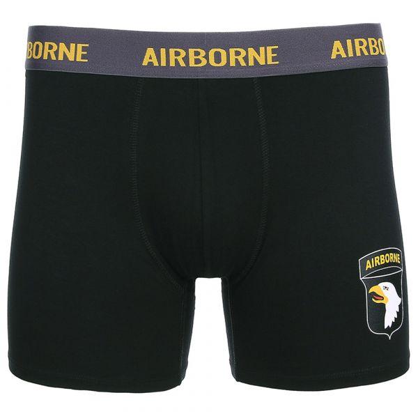 Fostex Garments Boxershorts 101st Airborne schwarz
