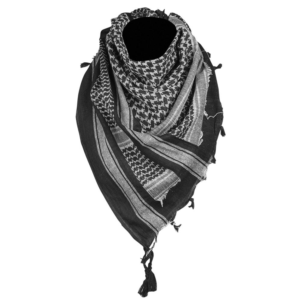 Mil-Tec Shemagh 110x110 cm schwarz weiß