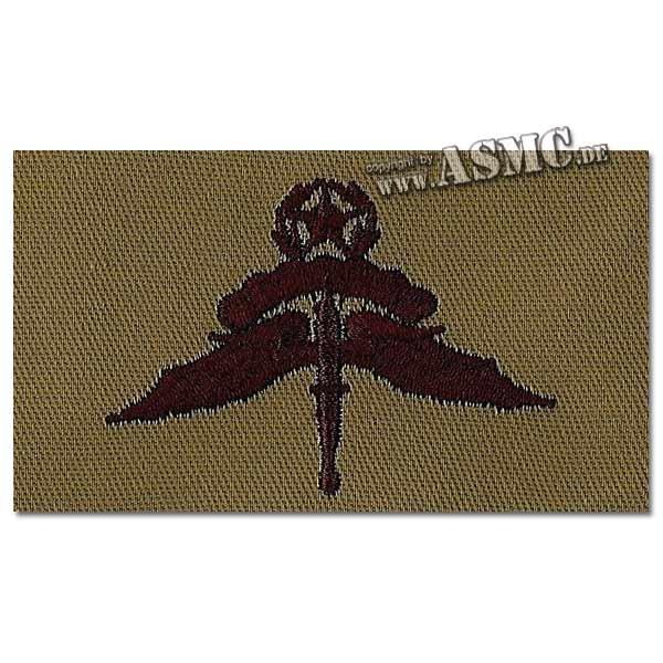 Abzeichen US Freefall Halo Master Textil desert